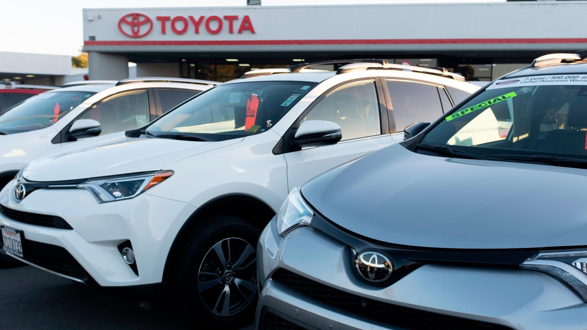 A Toyota dealership is seen in a file photo. (Credit: YichuanCao/NurPhoto/Getty Images)