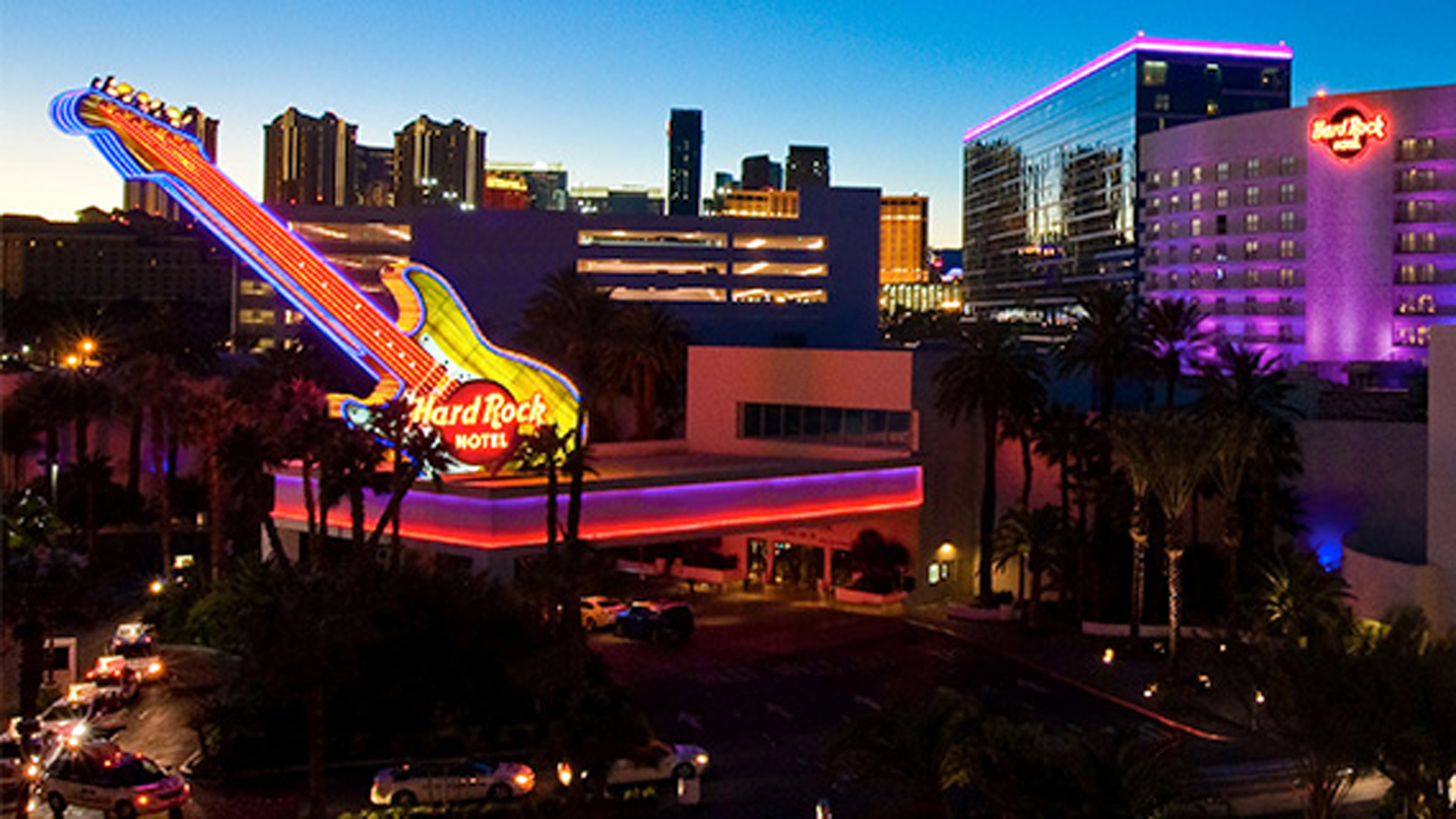 The Hard Rock Hotel and Casino in Las Vegas is seen in a photo provided by the hotel.