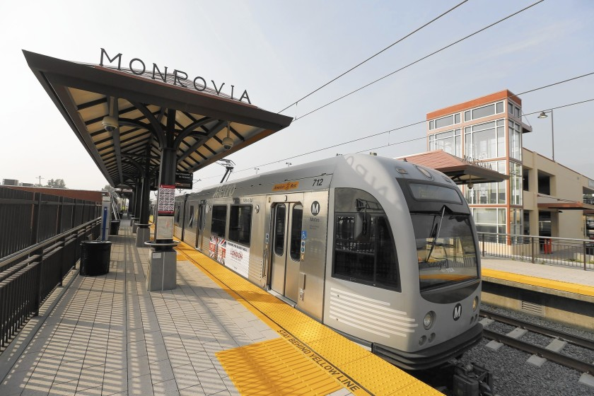 The Gold Line is seen in an undated photo. (Credit: Allen J. Schaben / Los Angeles Times)