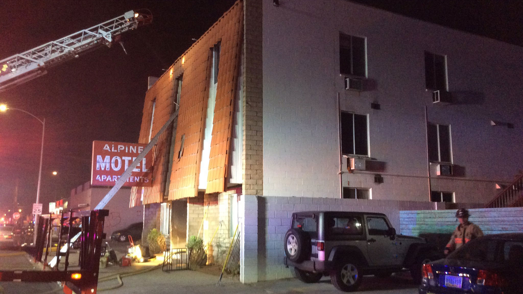 Six people were killed in a fire at this apartment building in Las Vegas on Dec. 21, 2019. (Credit: Las Vegas Fire Department via CNN)