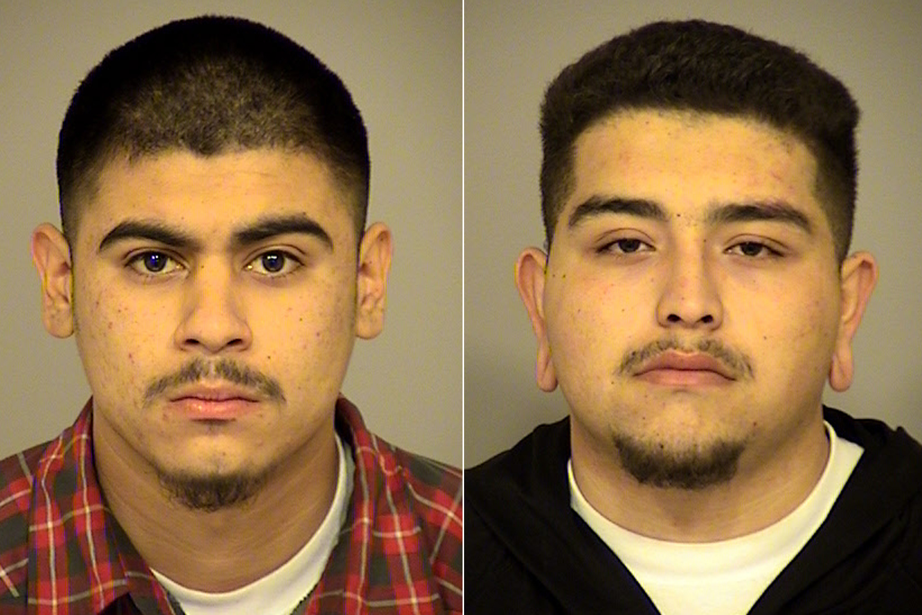 Jorge Nunez (left) and Jacob Oseguera (right) arrested on Dec. 20, 2019. (Credit: Ventura County Sheriff's Office)