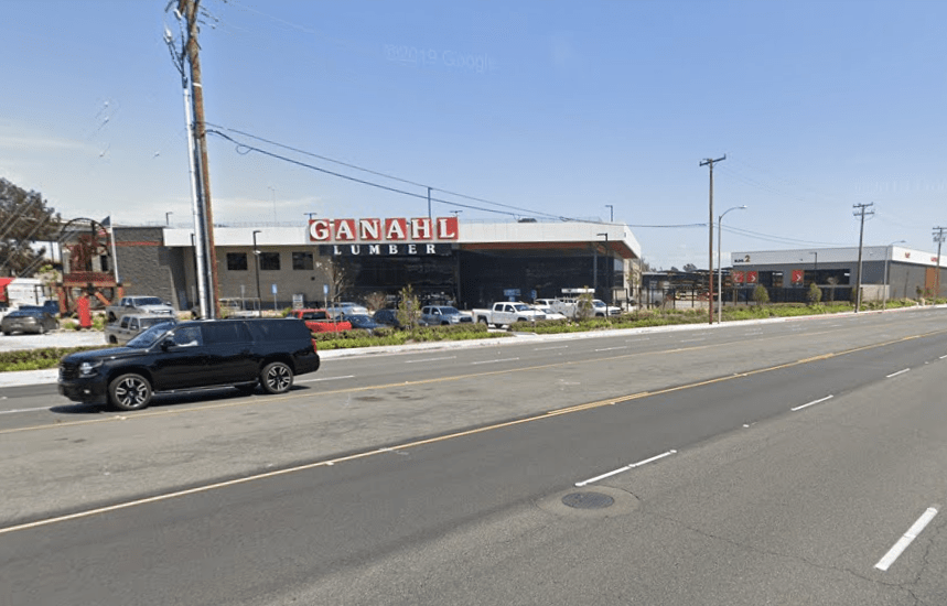 Ganahl Lumber's Costa Mesa location is seen in a Google Maps image.