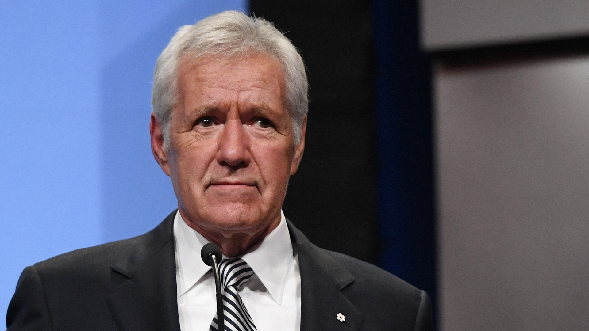 Alex Trebek is seen in a file photo. (Credit: Ethan Miller/Getty Images)