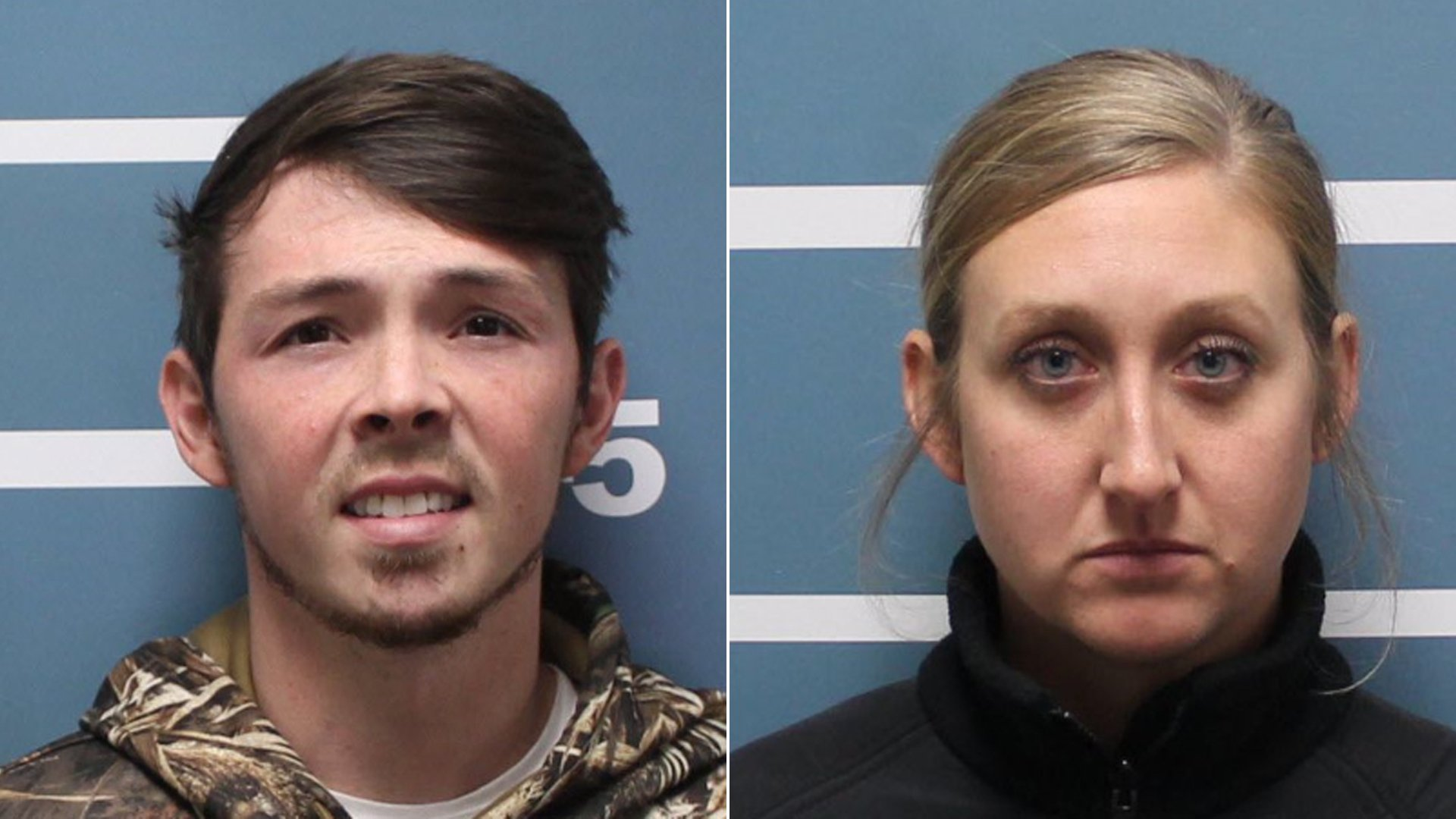 Corey Cornutt, 25, of Visalia and Savannah Grillot, 29, of Visalia, pictured in photos released by the Visalia Police Department following their arrests on Jan. 8, 2020.