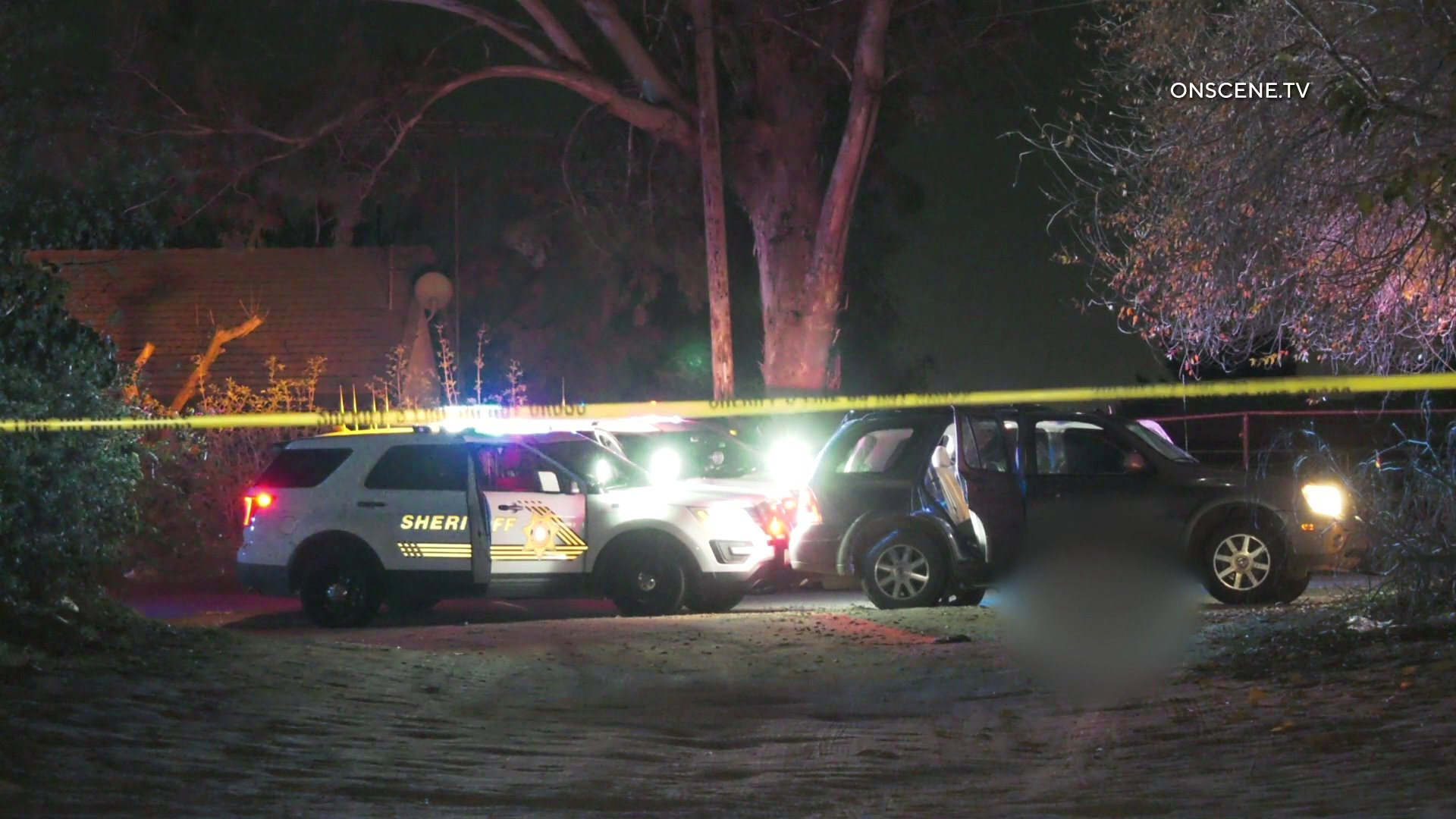 Investigators respond to the scene of a fatal deputy-involved shooting in Muscoy on Jan. 9, 2019. (Credit:Onscene.TV)