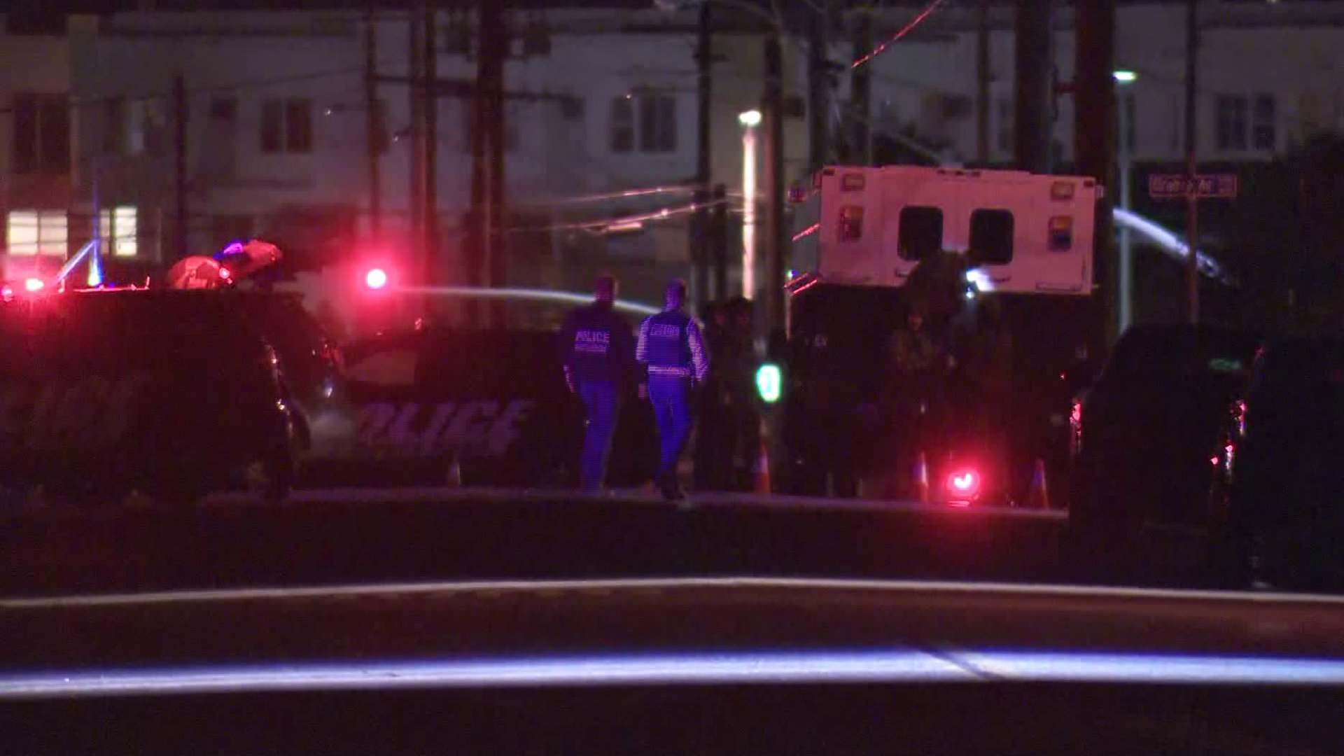 Authorities respond to an officer-involved shooting in Costa Mesa on Jan. 3, 2019. (Credit: KTLA)