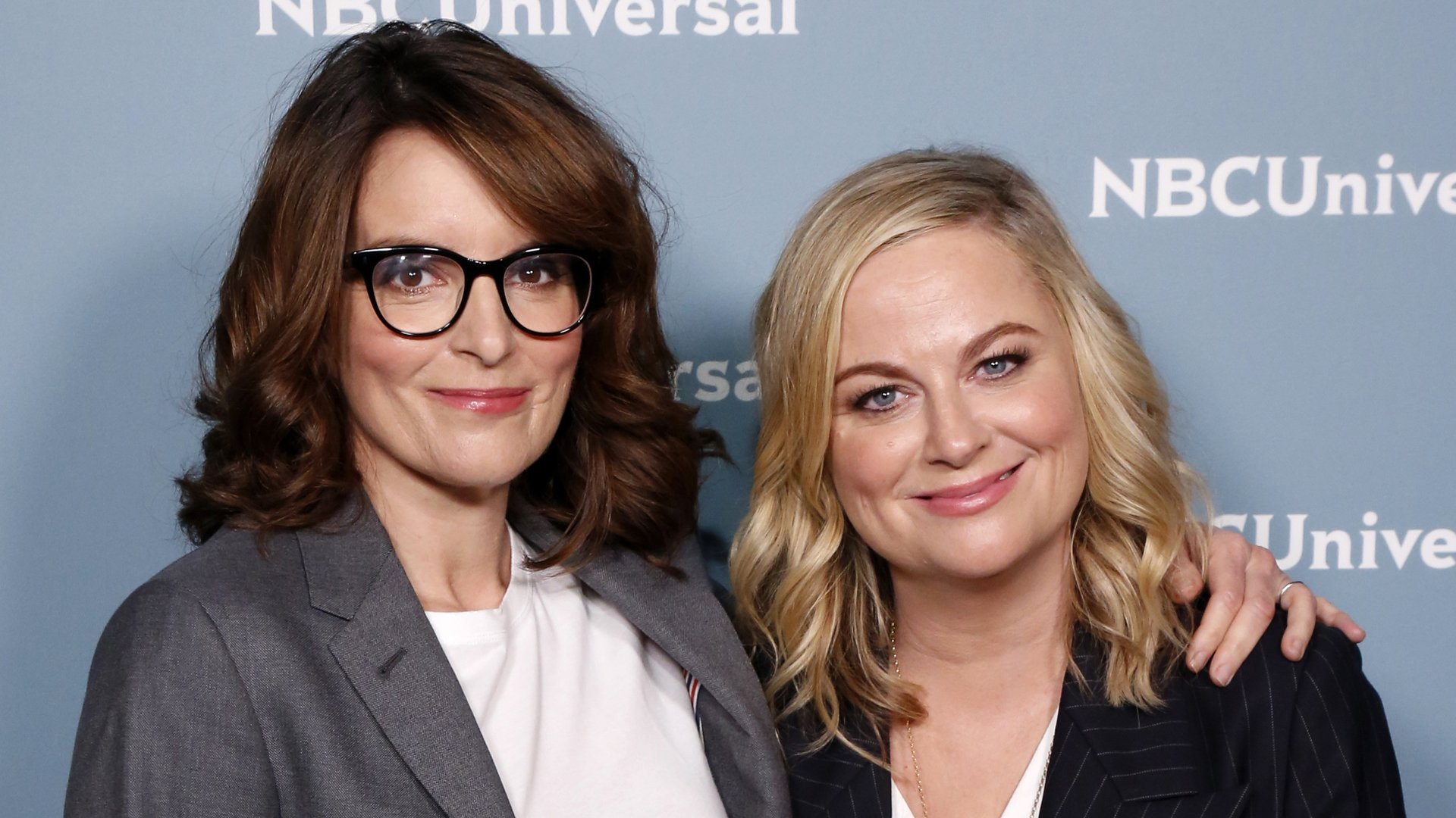 Tina Fey and Amy Poehler attend an NBCUniversal event in New York City on May 13, 2019. (Credit: Heidi Gutman/NBCUniversal/NBCU Photo Bank/NBCUniversal via Getty Images)