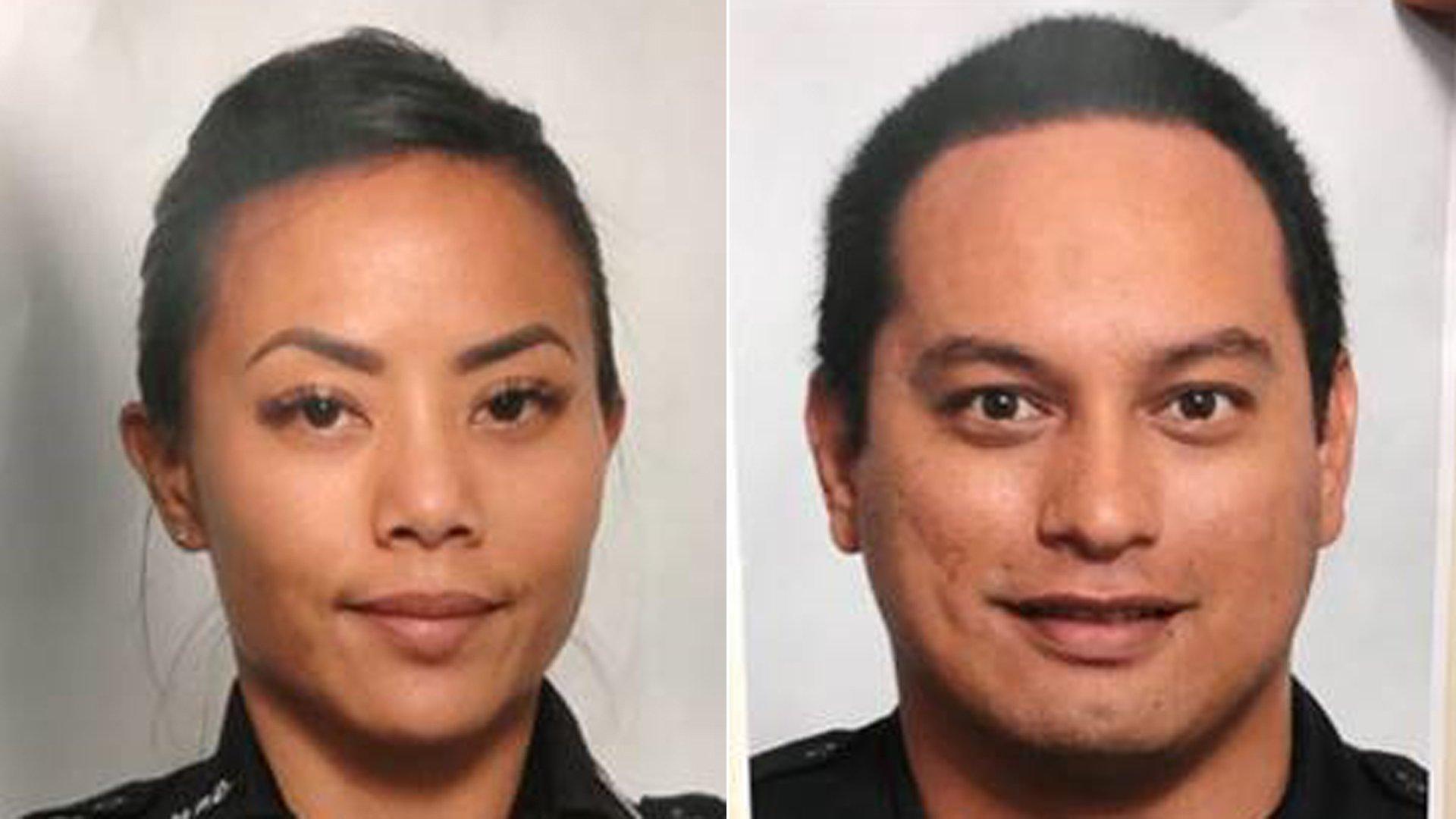 Honolulu police officers Tiffany Enriquez and Kaulike Kalama were killed in a shooting on Jan. 19, 2020. (Credit: Honolulu Police Department via CNN)