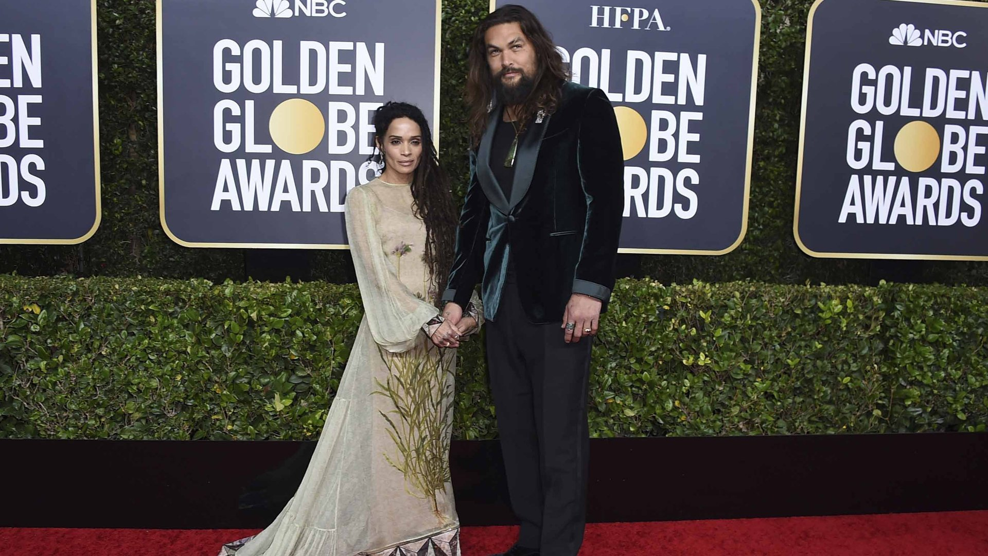 Jason Momoa and wife, Lisa Bonet, attended the 2020 Golden Globe Awards on Jan. 5, 2020.