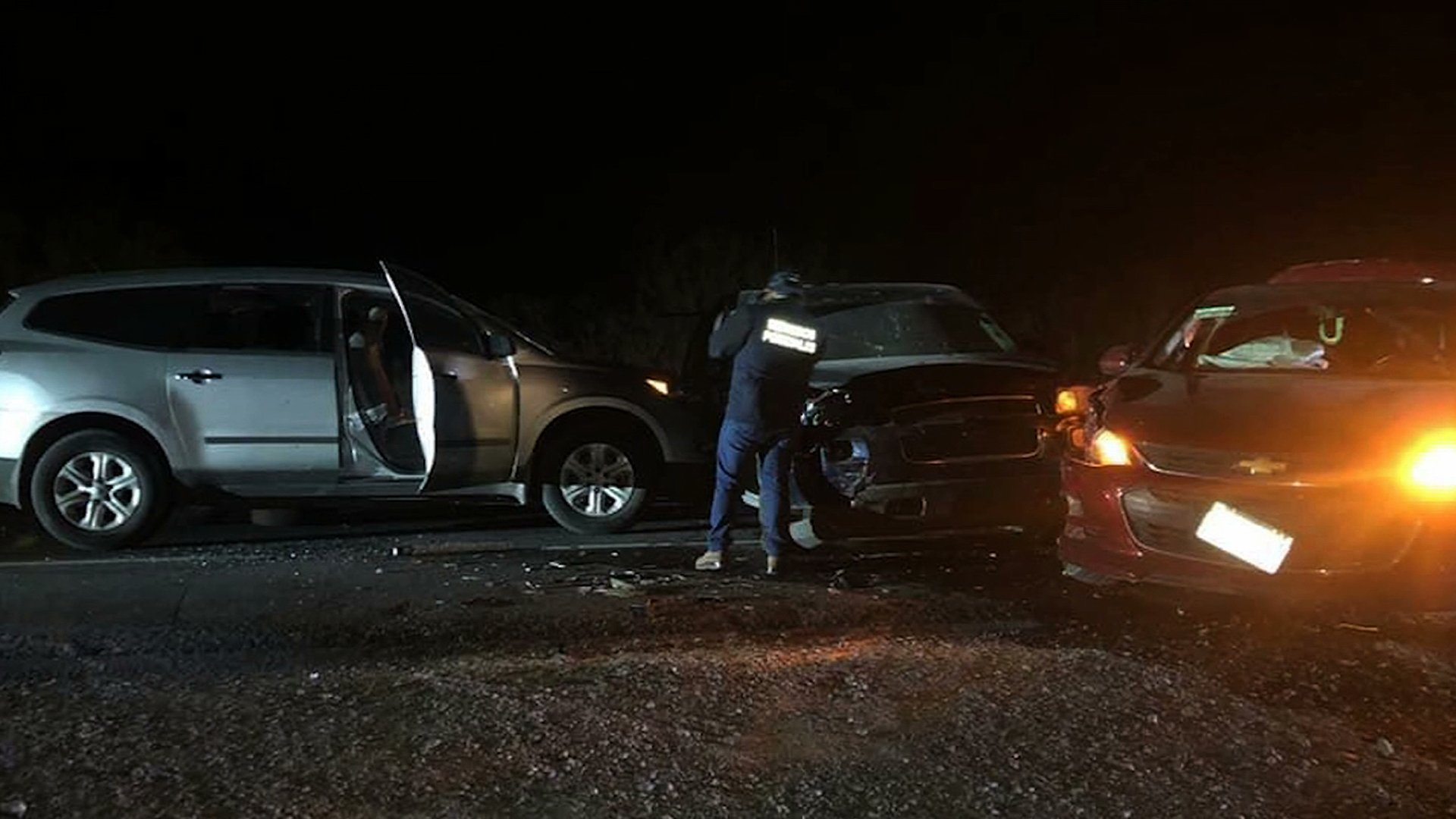 The scene where a family from Oklahoma was attacked on Jan. 4, 2020, near the U.S. border in Tamaulipas state, Mexico, is seen in a photo obtained by CNN.