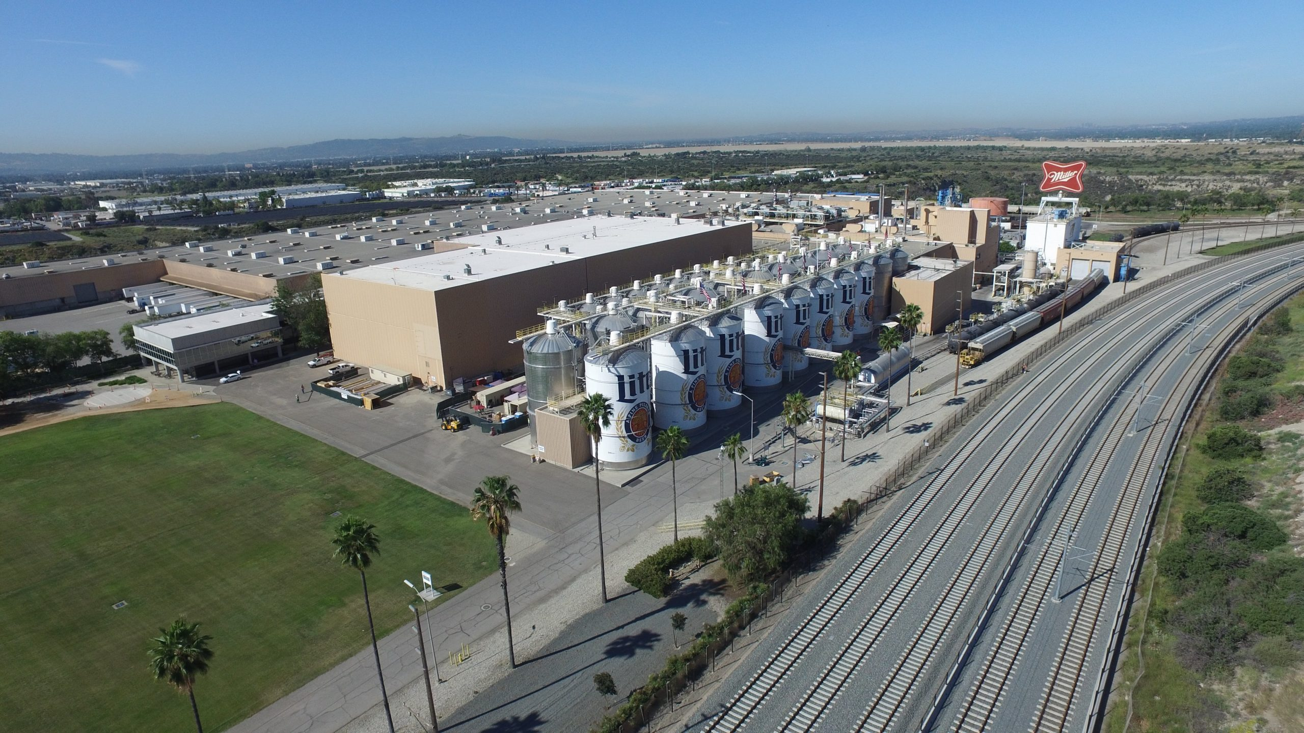 The MillerCoors brewery in Irwindale is seen in a photo posted on the company's blog on Jan. 6, 2020.
