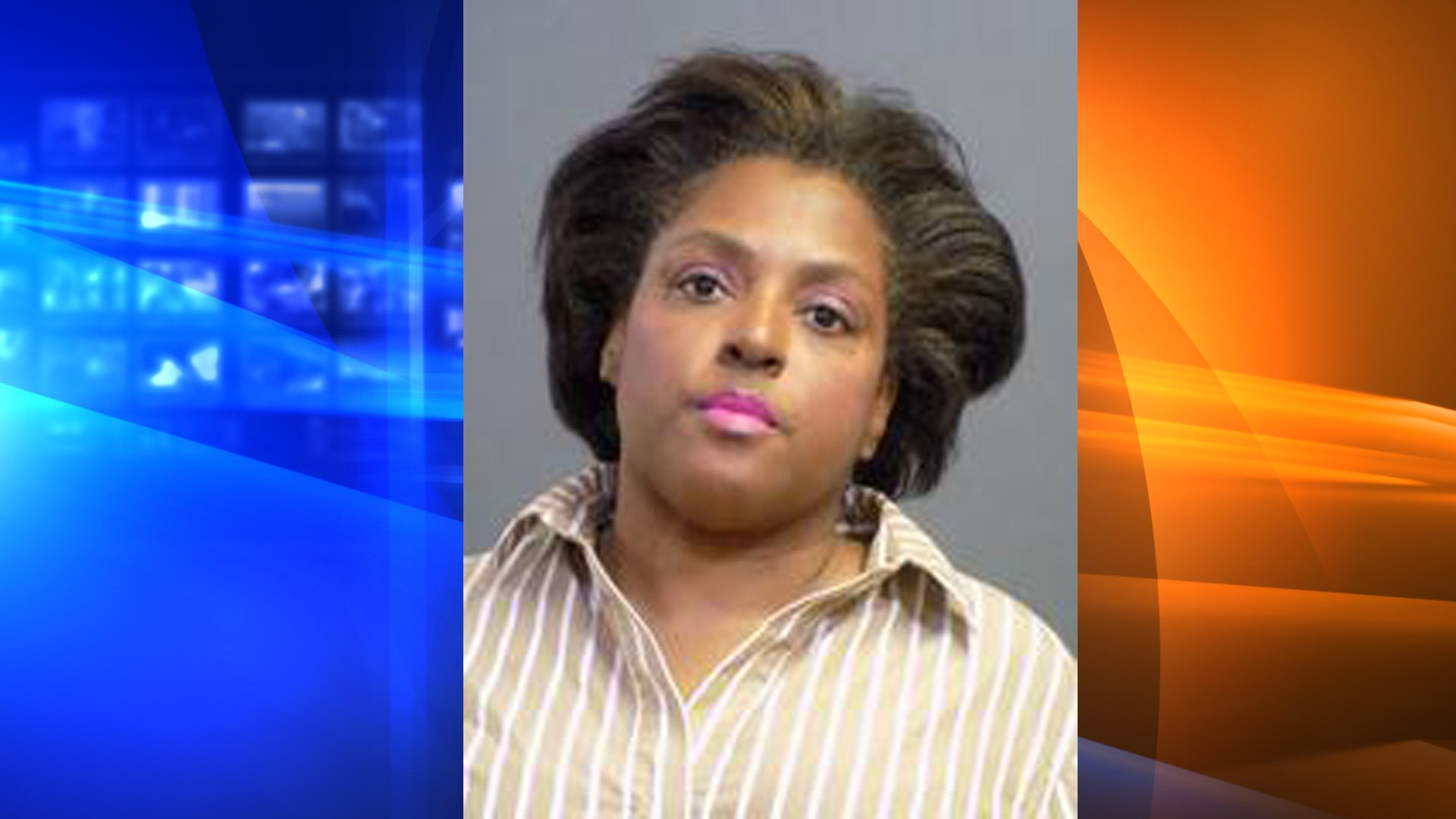 Karen Yvonne Floyd is seen in a booking photo released by the Costa Mesa Police Department on Jan. 14, 2020.