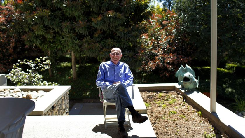 Joe Coulombe poses for a photo in 2011 at his Pasadena home. (Jay L. Clendenin / Los Angeles Times)