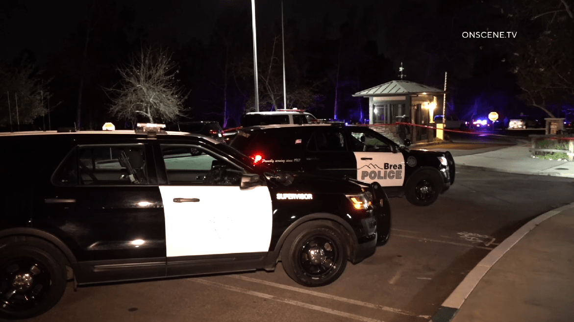 Authorities respond to investigate a deadly police shooting at Carbon Canyon Regional Park in Orange County on Feb. 25, 2020. (Credit: OnScene.TV)