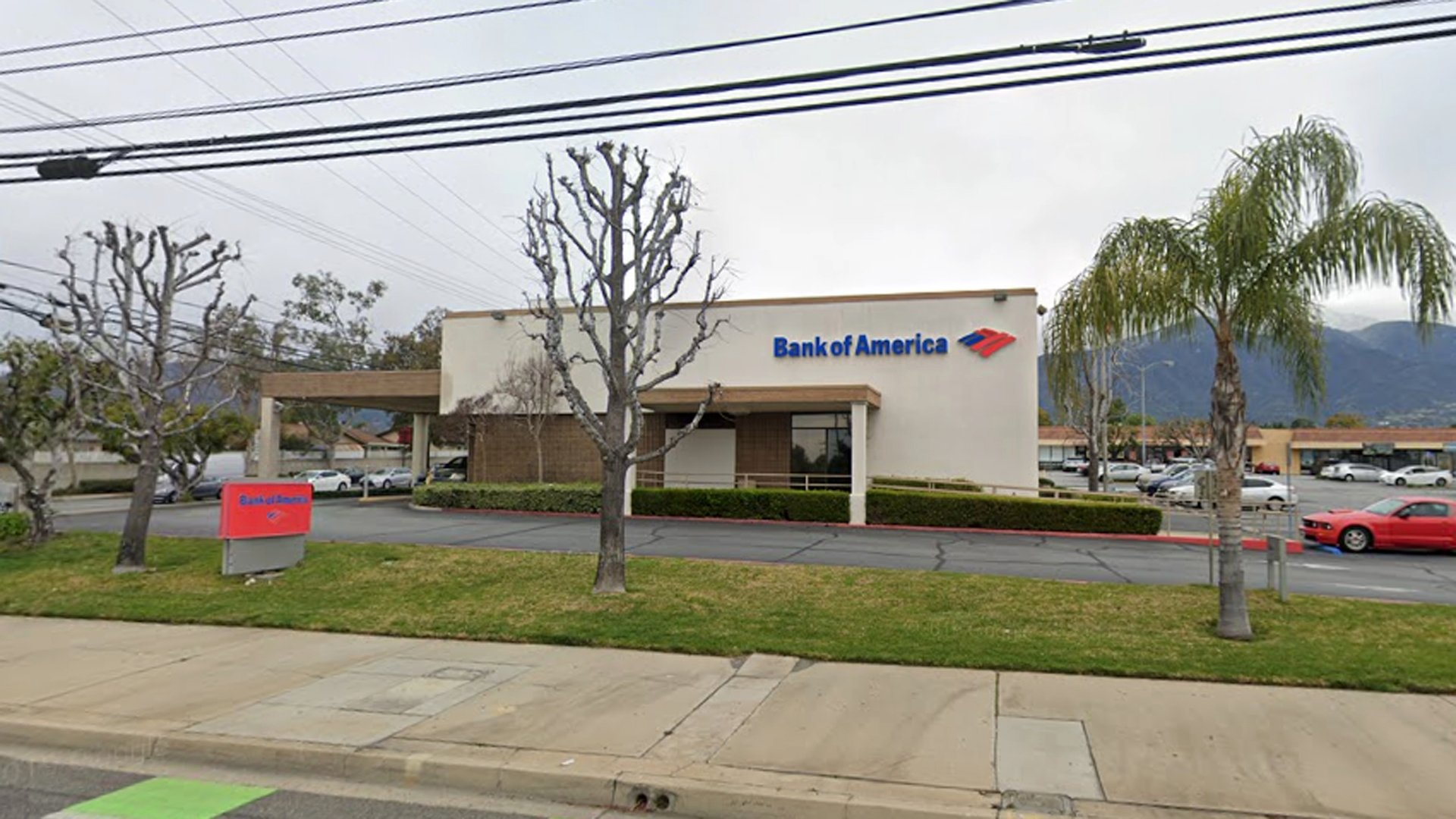 A Bank of America branch at Baseline Road and Carnellian Street, as pictured in a Google Street View image.