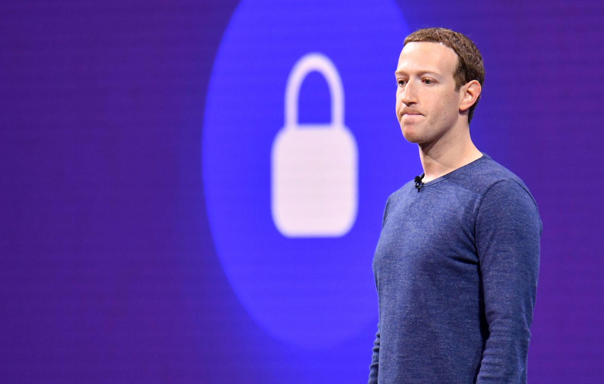 Facebook CEO Mark Zuckerberg speaks during the annual F8 summit at the San Jose McEnery Convention Center in San Jose, California on May 1, 2018. (Josh Edelson/AFP/Getty Images)