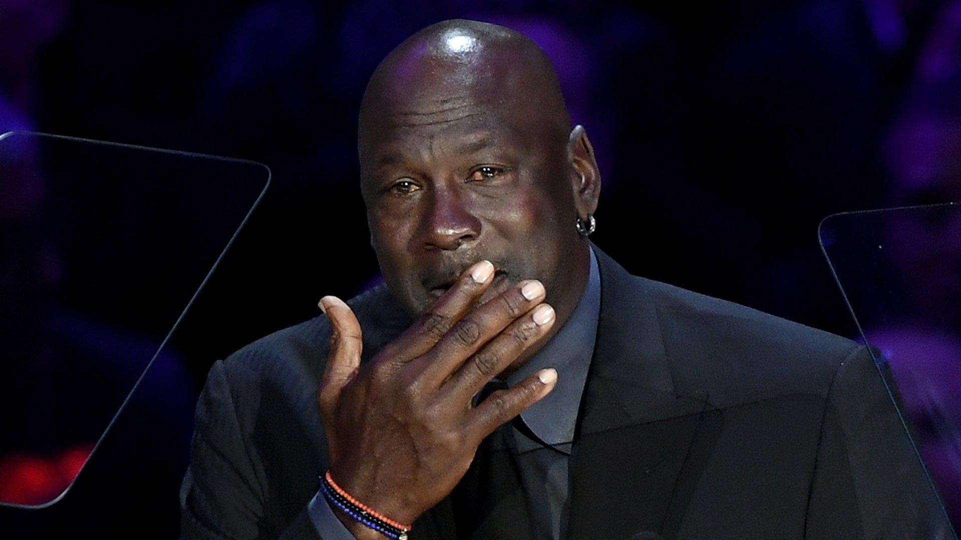 Michael Jordan speaks during The Celebration of Life for Kobe & Gianna Bryant at Staples Center on Feb. 24, 2020. (Credit: Kevork Djansezian/Getty Images)