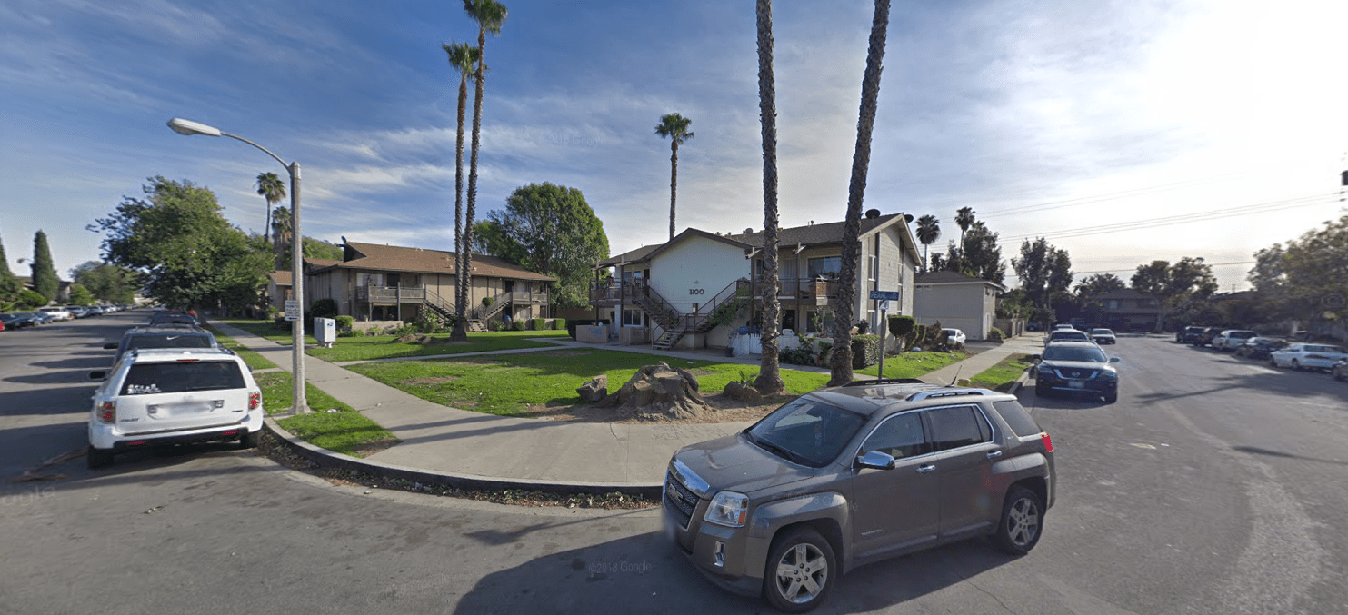 The area of Cameo Lane and Pearl Drive in Fullerton appears in an image from Google Maps.