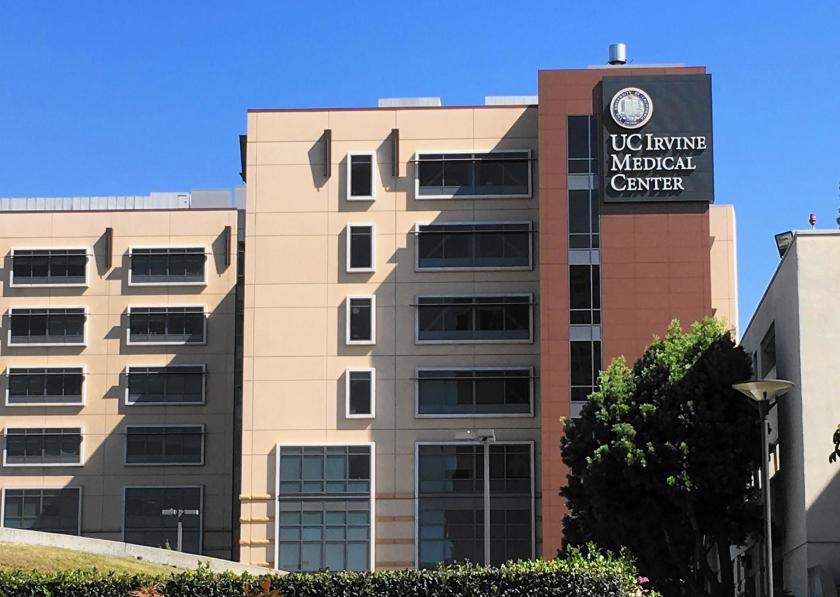 The UC Irvine Medical Center is seen in a file photo. (Credit: Los Angeles Times)