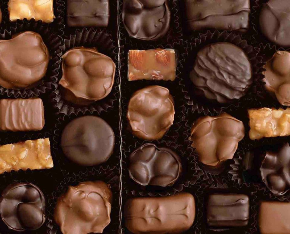 See's Candies chocolates are seen in a photo posted on the company's Facebook page in December 2019.
