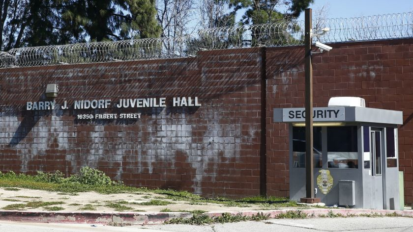 The Barry J. Nidorf Juvenile Hall in Sylmar is shown in this undated photo. (Kent Nishimura / Los Angeles Times)
