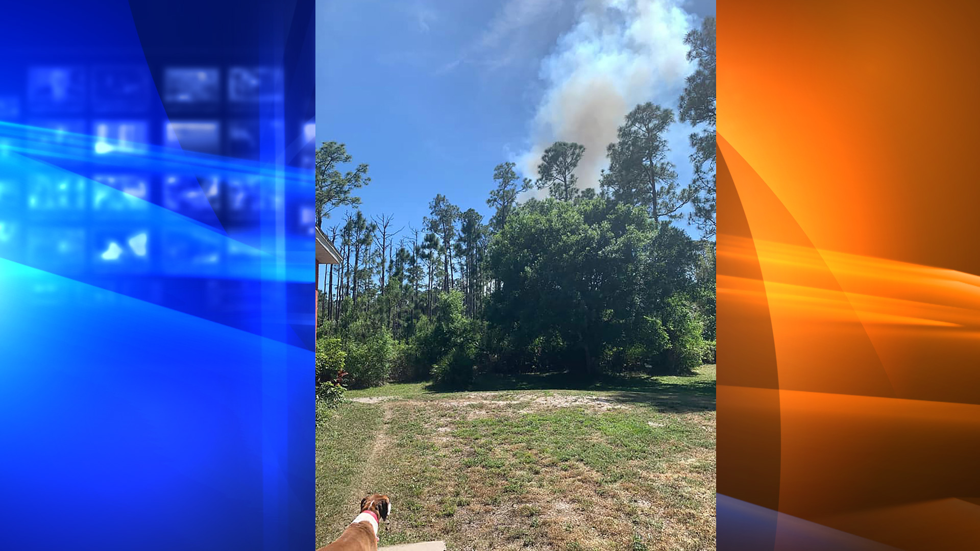 Firefighters were called to a home in Brevard County, Florida, after reports that a blaze was possibly ignited by fireworks, fire officials said. (Brevard County Fire Rescue)
