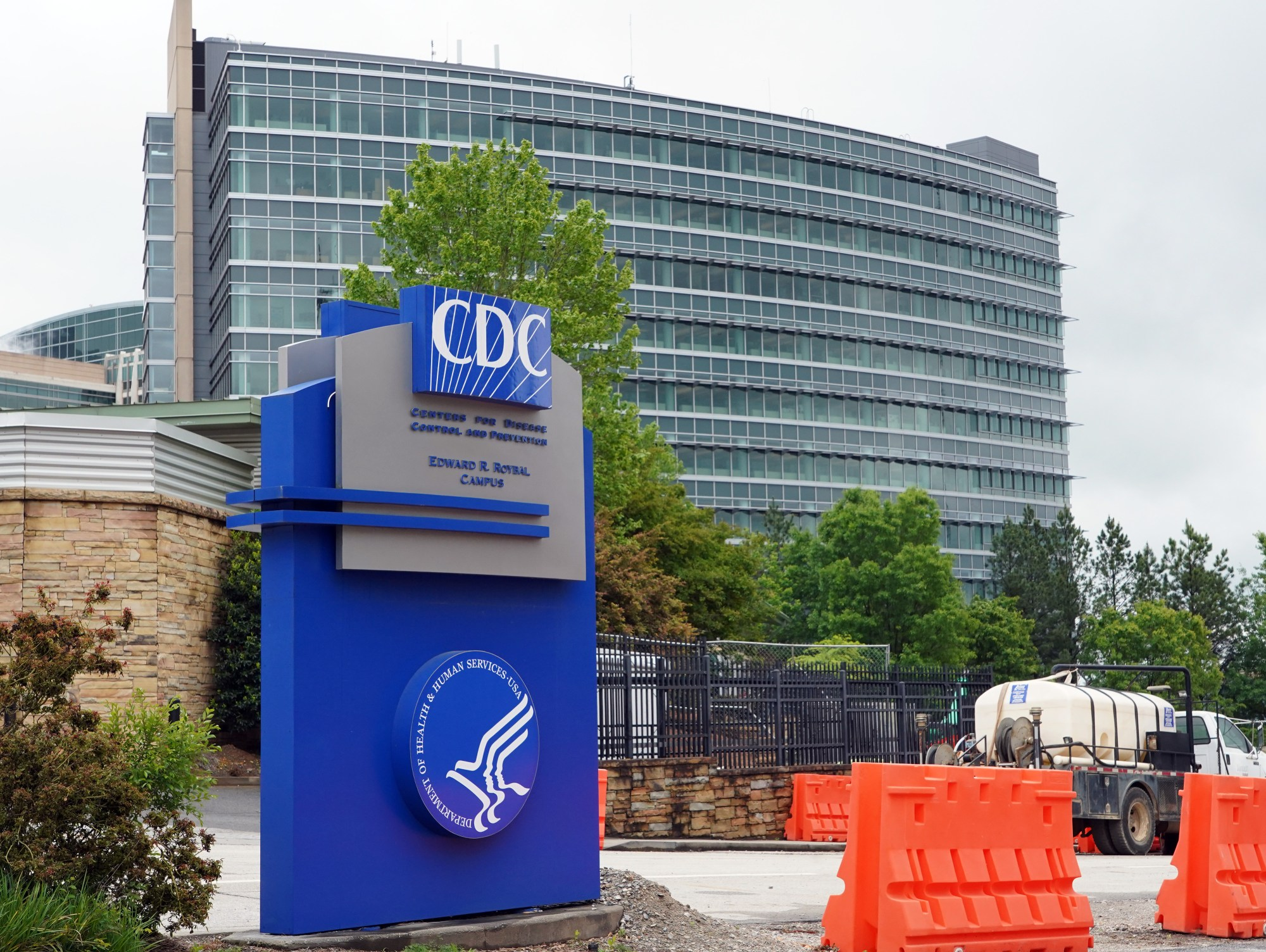 A general view of the Centers for Disease Control and Prevention Edward R. Roybal campus in Atlanta, Georgia on April 23, 2020. (TAMI CHAPPELL/AFP via Getty Images)