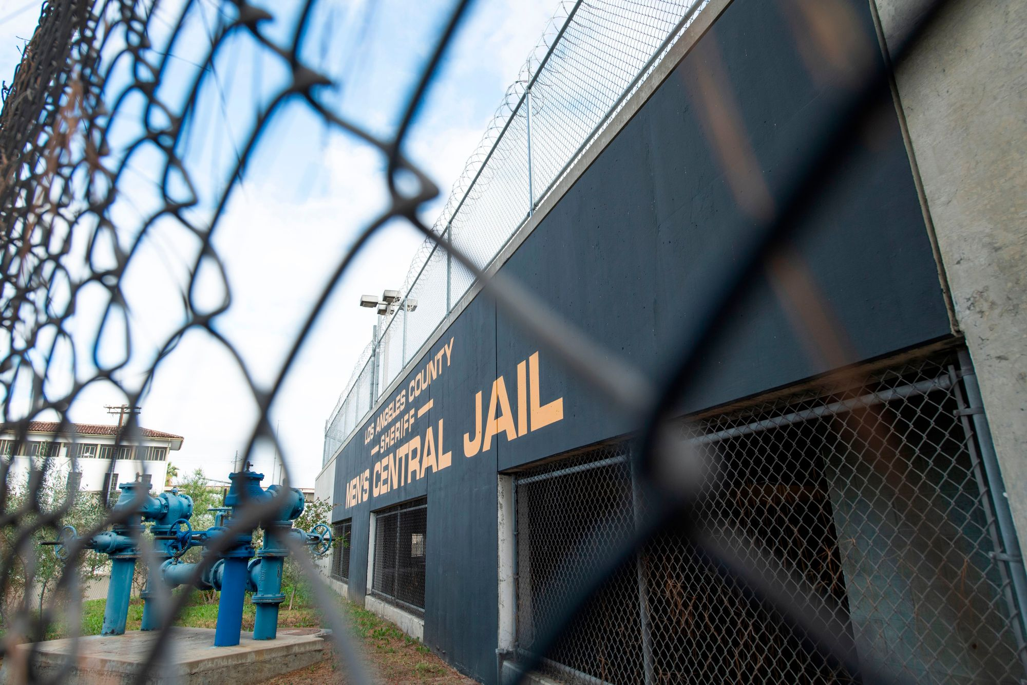 The outside of the Men's Central Jail is seen on May 12, 2020, in Los Angeles, California. (VALERIE MACON/AFP via Getty Images)