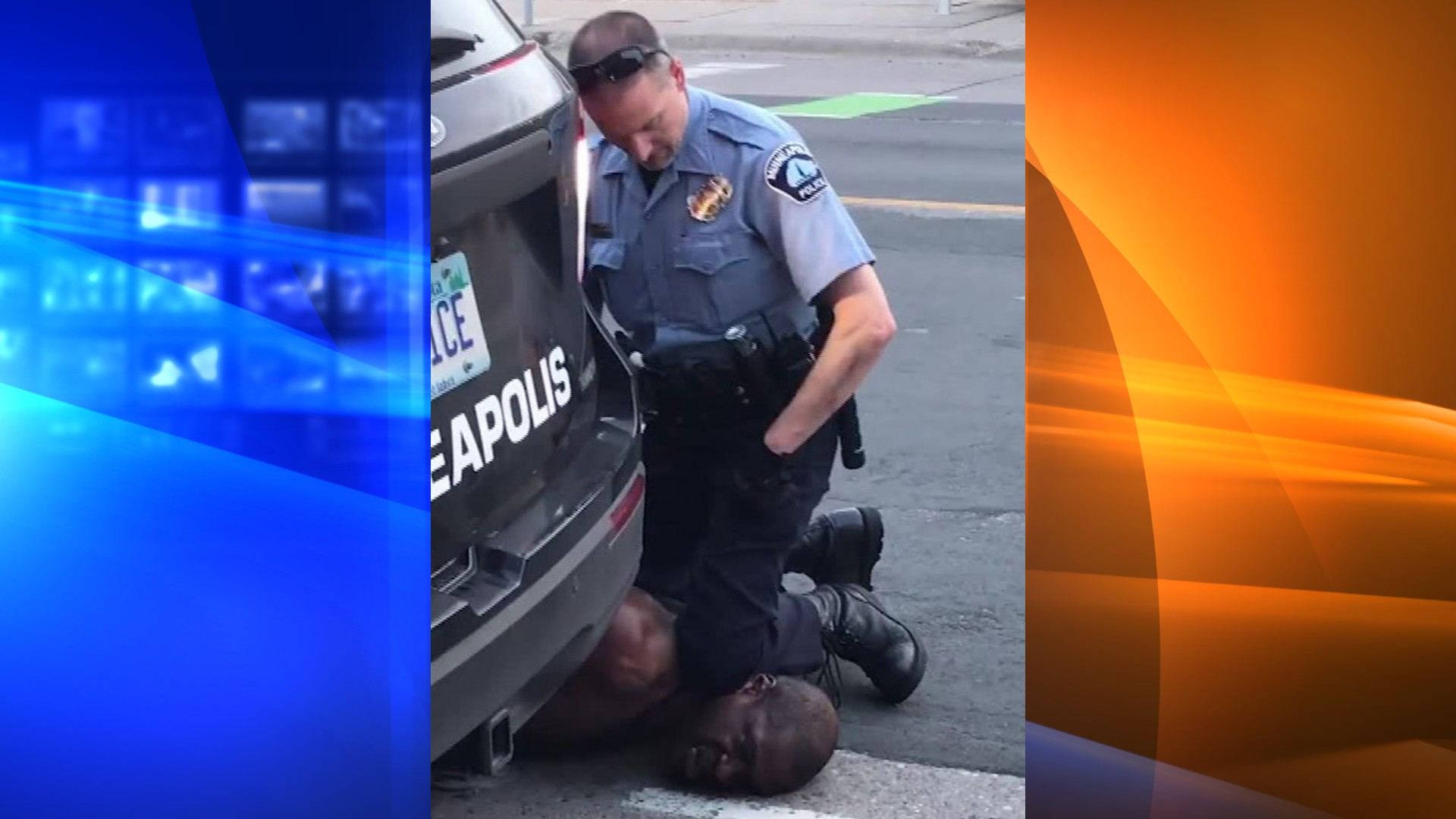 Officer Derek Chauvin is shown kneeling on George Floyd's neck on May 25, 2020, in a still from a video taken by Darnella Frazier and distributed by CNN.