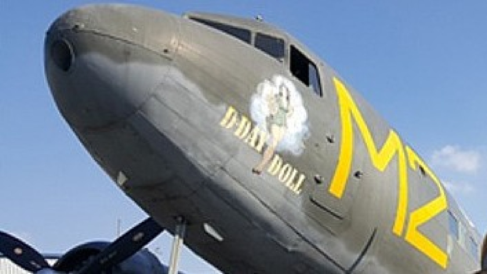 "The ""D-Day Doll"" is seen in an image posted on the Commemorative Air Force Inland Empire Wing's website."