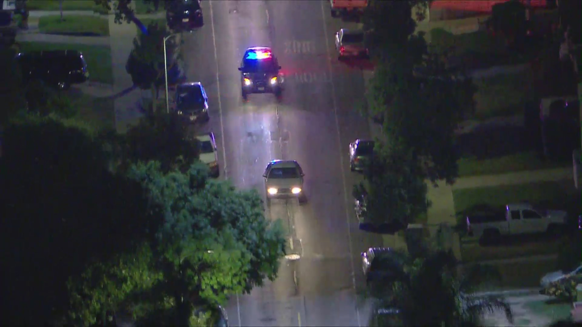 Police pursue a vehicle on June 2, 2020. (KTLA)