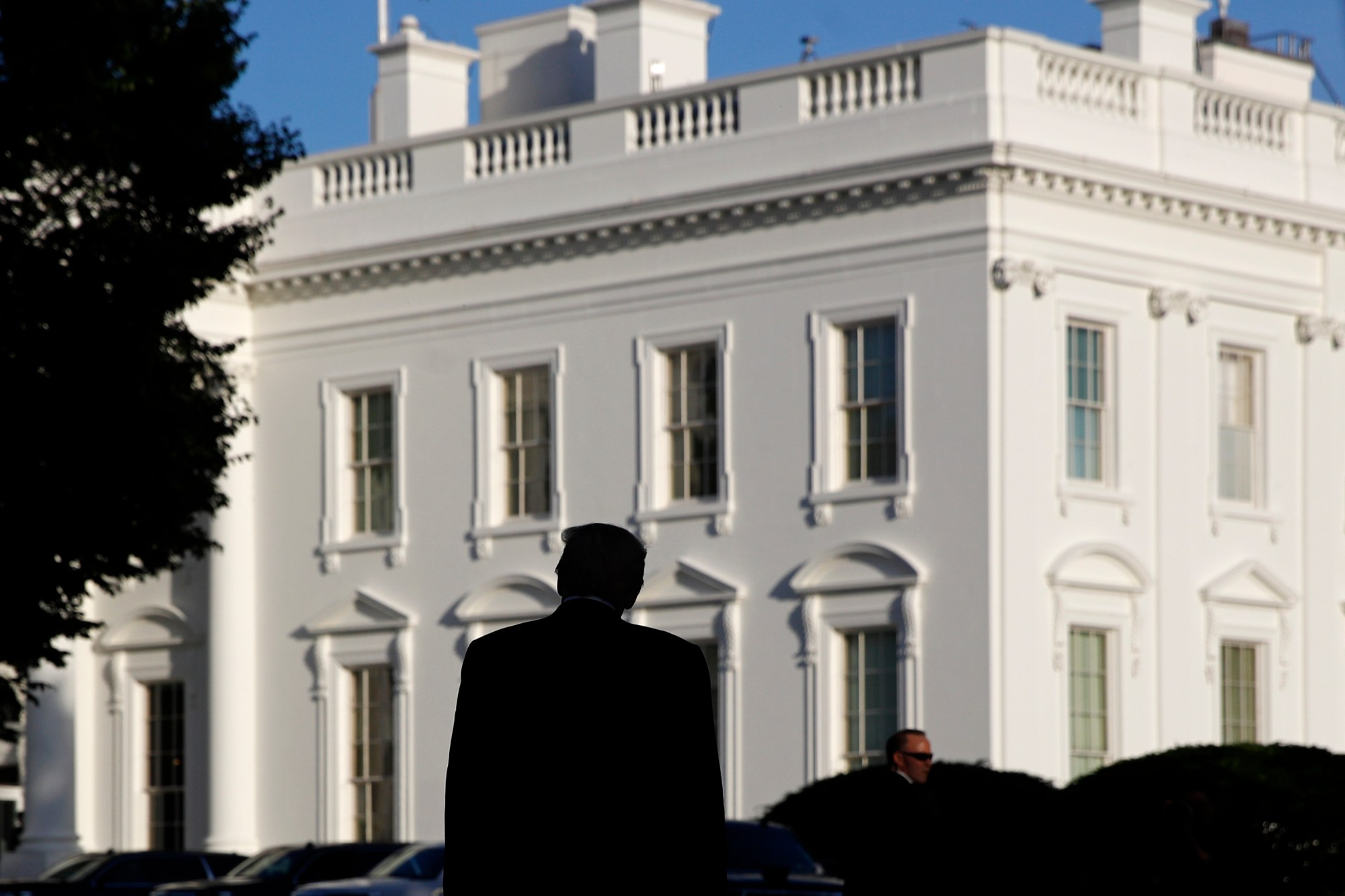 In this June 1, 2020, photo President Donald Trump returns to the White House after visiting outside St. John's Church in Washington. (AP Photo/Patrick Semansky, File)