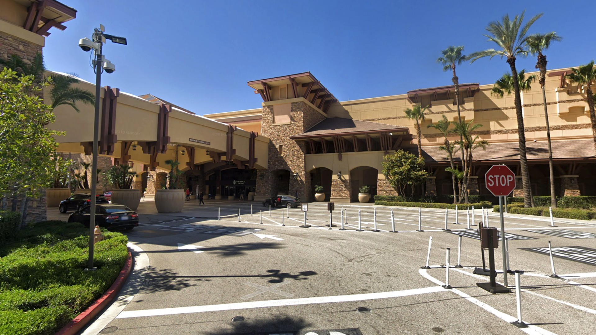 San Manuel Casino is seen in this image taken from Google Maps.
