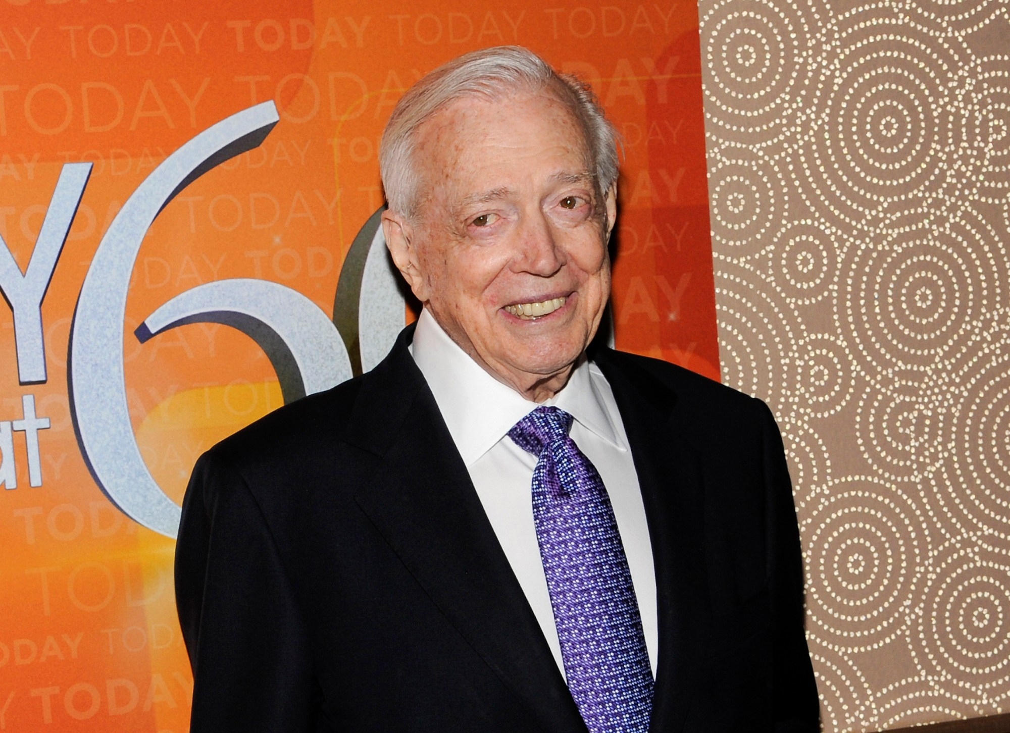 """This Jan. 12, 2012 file photo shows Hugh Downs at the """"Today"""" show 60th anniversary celebration in New York. (Evan Agostini/Associated Press)"""
