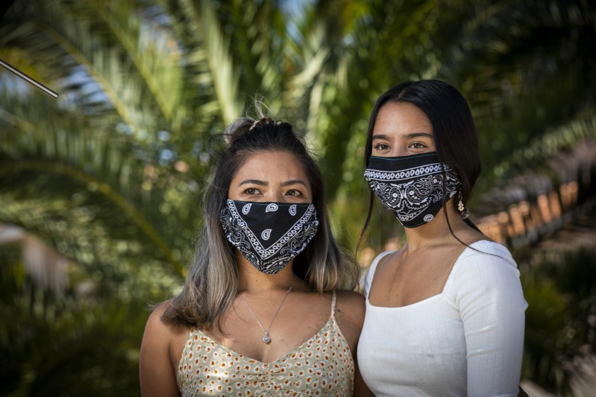Donalene Ferrer, left, a Filipina, and her daughter, Charlie, 17, are seen in an undated photo. (Allen J. Schaben / Los Angeles Times)