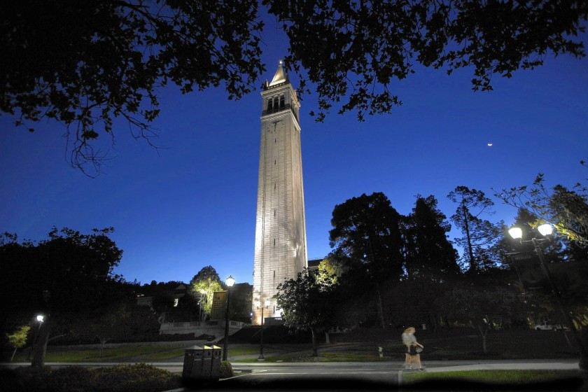 Sather Tower on the UC Berkeley campus.(Bob Chamberlin / Los Angeles Times)