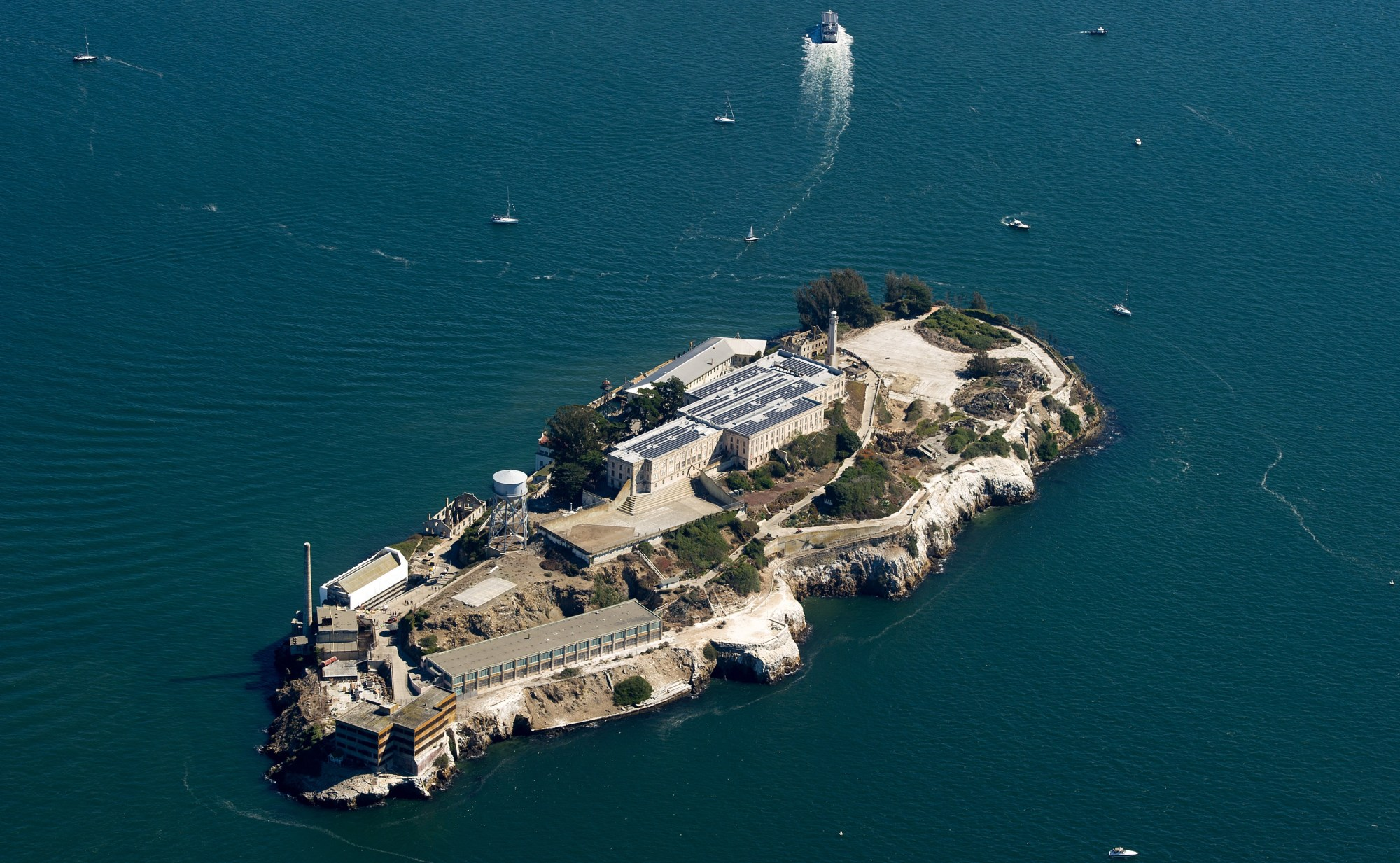 Alcatraz is seen in San Francisco, California on October 9, 2015. (Josh Edelson/AFP via Getty Images)