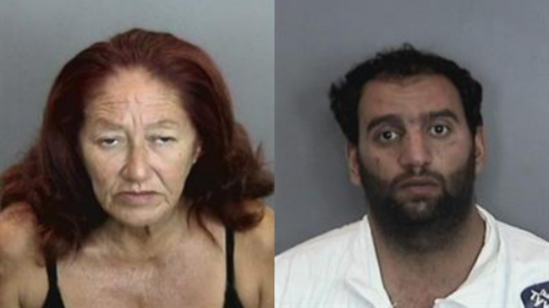Jessie Villesca, left, and Abdulaziz Munther Alubidy, right, are seen in photos released by Anaheim police.