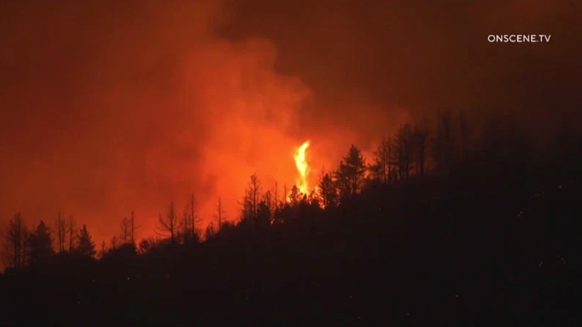 The El Dorado Fire burns in San Bernardino County. (OnScene.TV)