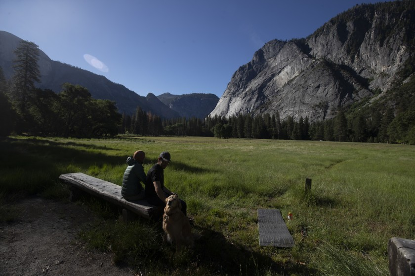 The Yosemite Valley at Yosemite National Park is shown on June 11, 2020. (Brian van der Brug/Los Angeles Times)