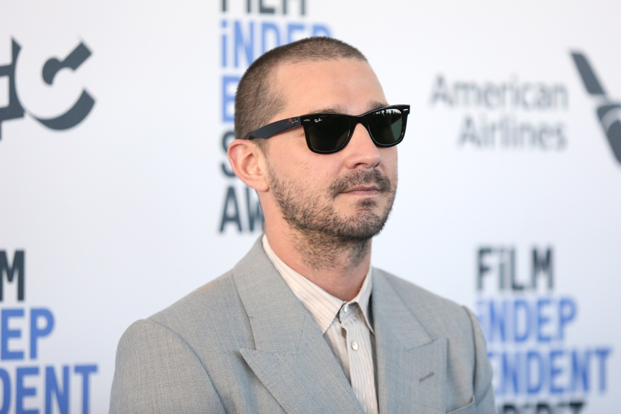 Shia LaBeouf attends the 2020 Film Independent Spirit Awards on Feb. 8, 2020, in Santa Monica, California. (Phillip Faraone/Getty Images)