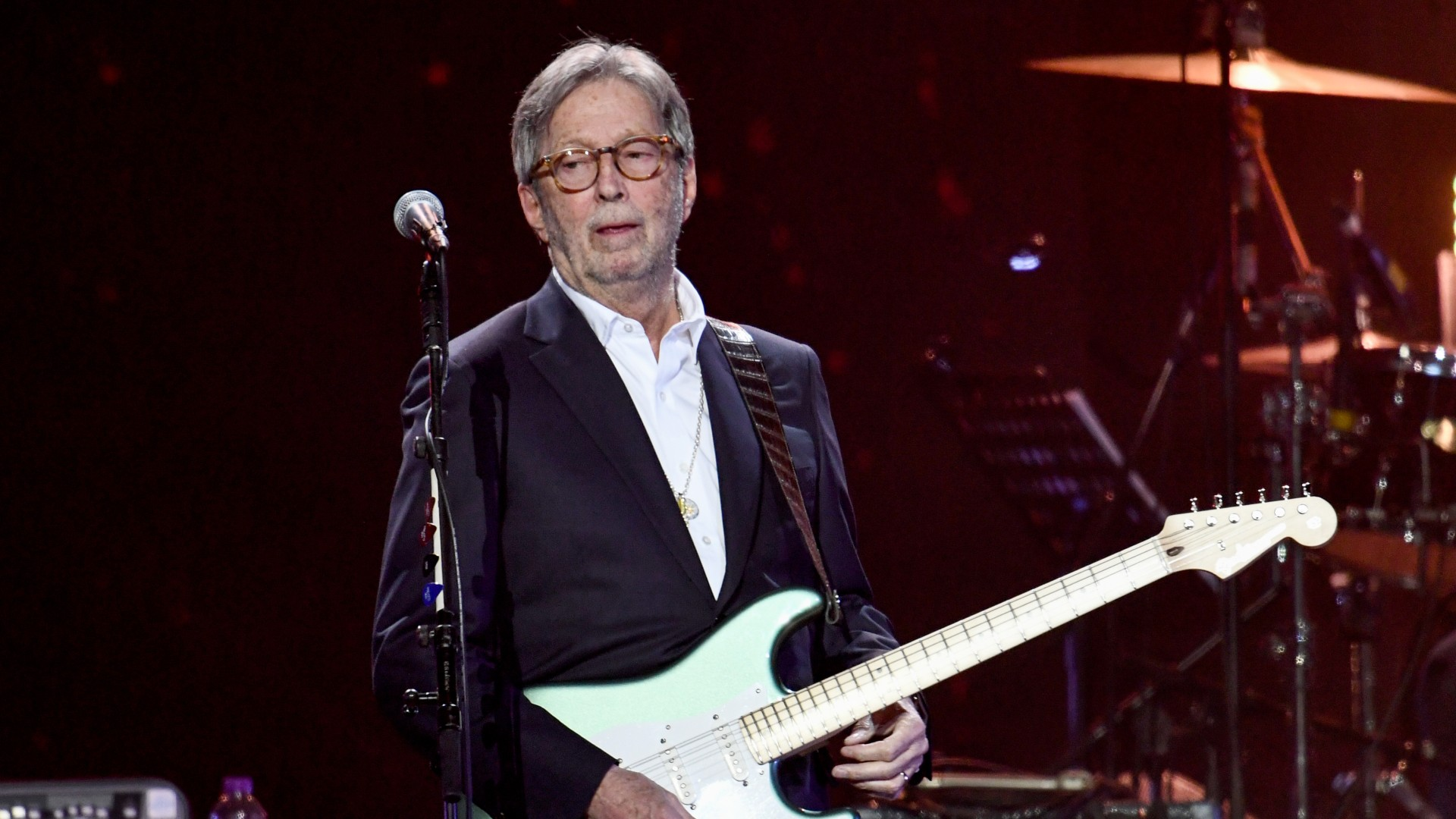 Eric Clapton performs on stage during Music For The Marsden 2020 at The O2 Arena on March 03, 2020 in London, England. (Gareth Cattermole/Getty Images)