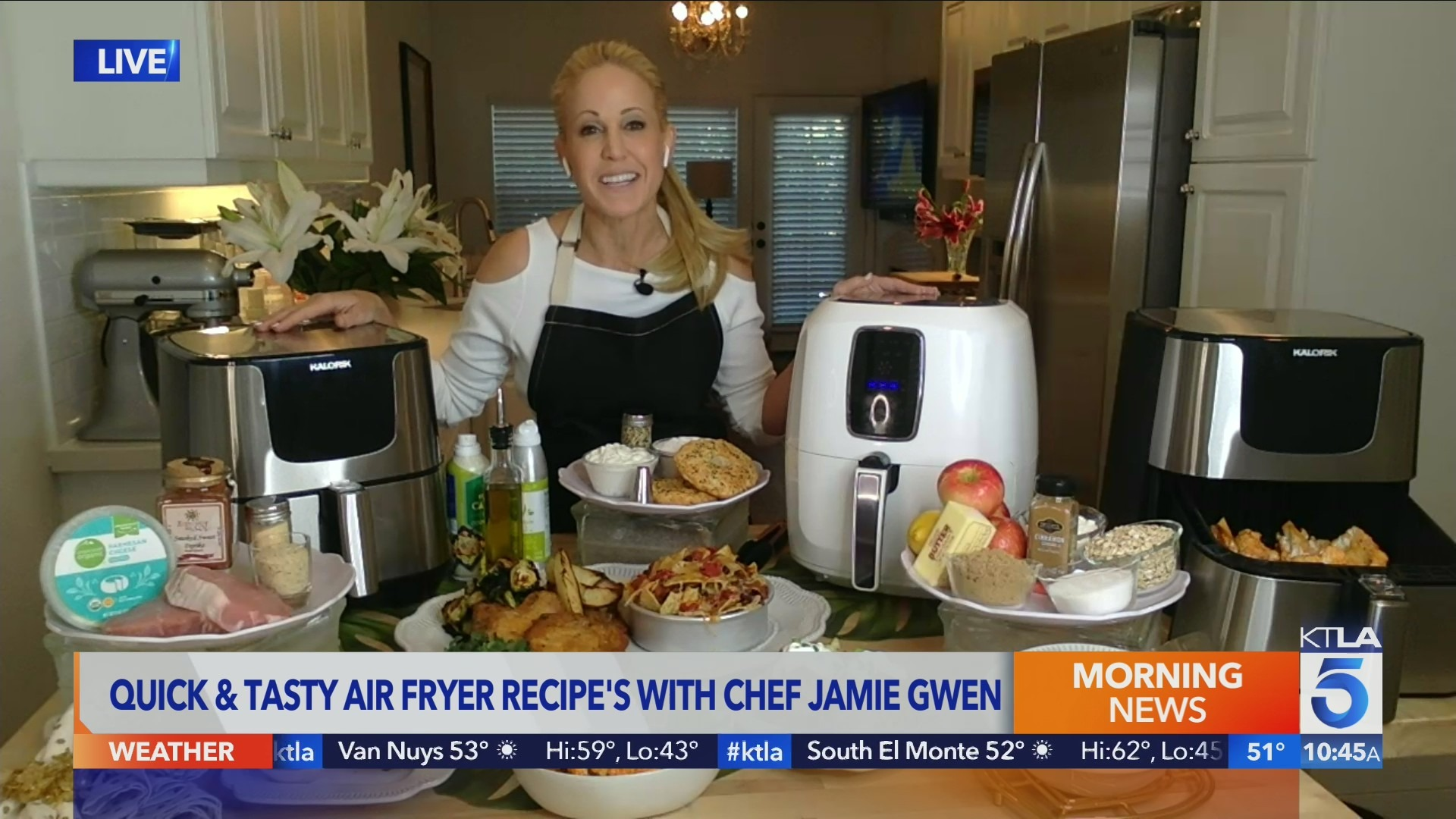 Chef Jamie Gwen air flyer recipes