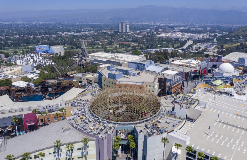 Most of Universal Studios Hollywood will reopen starting March 12 for a food and shopping event. (Brian van der Brug / Los Angeles Times)