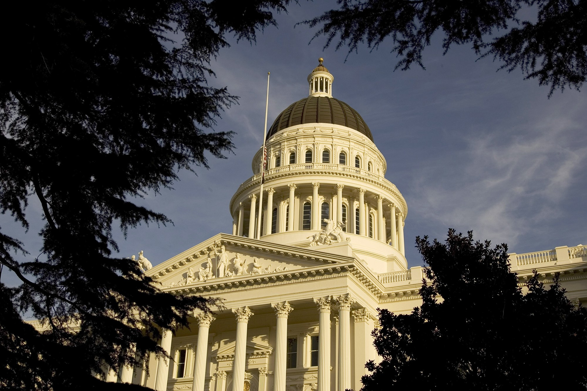 An exterior of the California state Capitol in Sacramento is shown on January 5, 2006. (David Paul Morris/Getty Images)