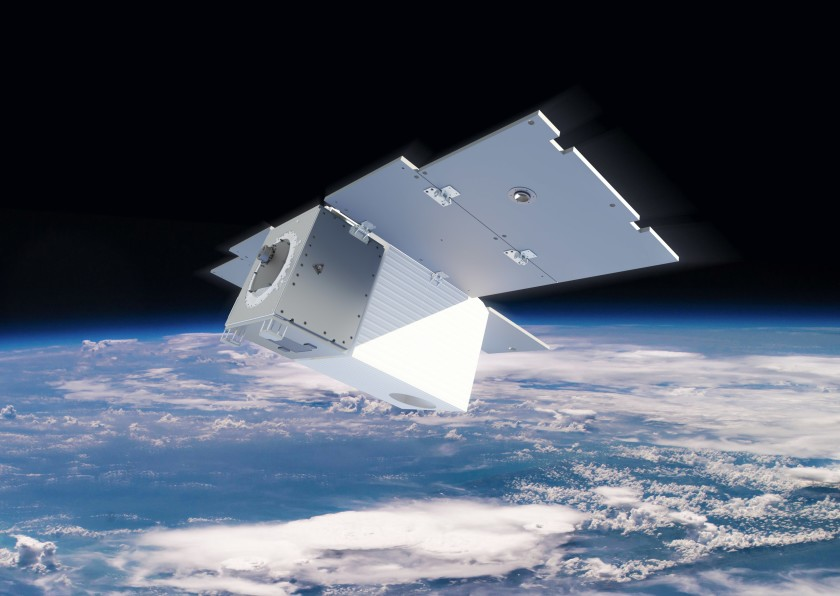 A rendering of one of the Carbon Mapper satellites set to launch in 2023.(Carbon Mapper via L.A. Times)