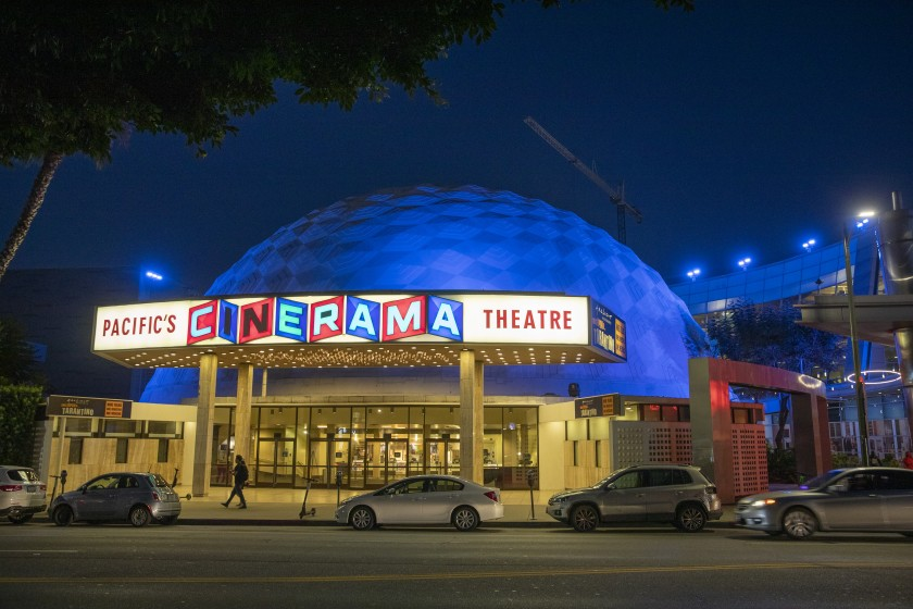 The ArcLight Cinerama Dome on Sunset Boulevard is seen in an undated file photo. (Allen J. Schaben / Los Angeles Times)