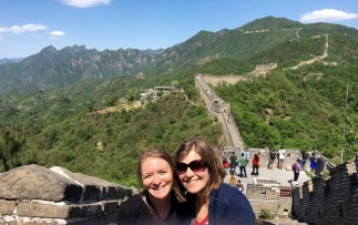 Kenna and Tami at Great Wall