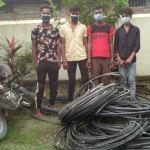 नेपाल टलिकमको तार चोरी गर्ने ४ जना पक्राउ