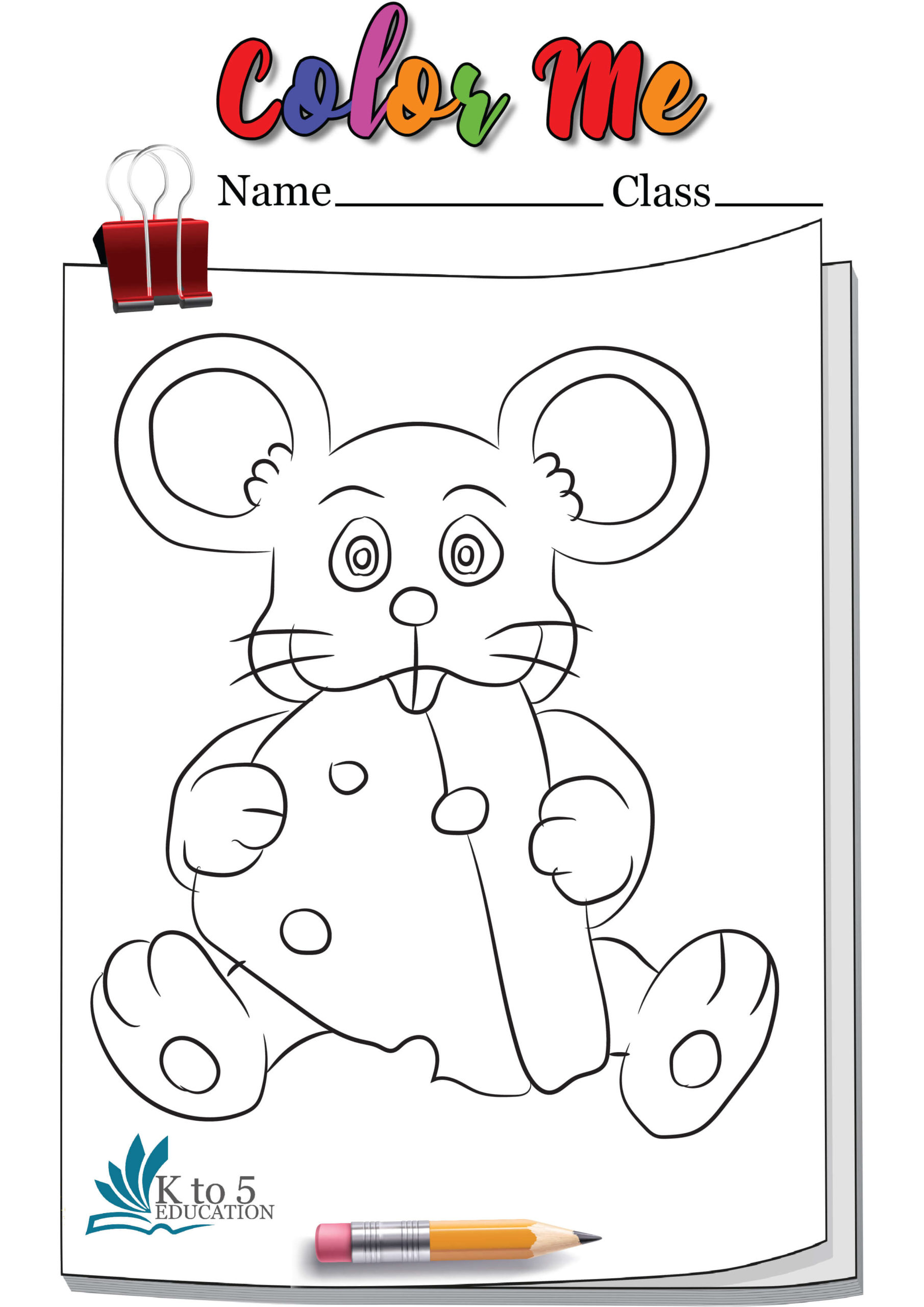 Rat Showing Thumbs Up Coloring Page Worksheet